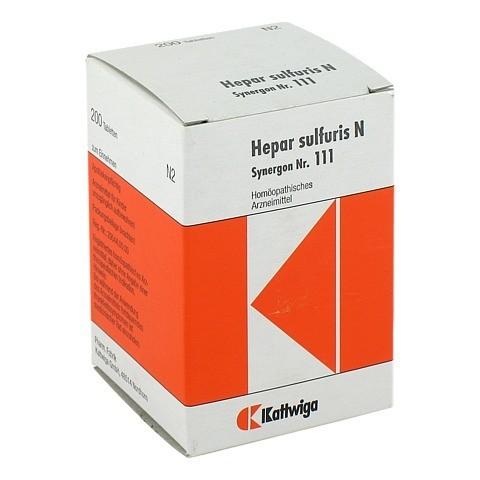 SYNERGON KOMPLEX 111 Hepar sulfuris N Tabletten 200 Stück