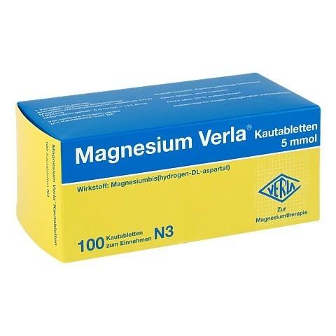 MAGNESIUM VERLA Kautabletten 100 Stück N3