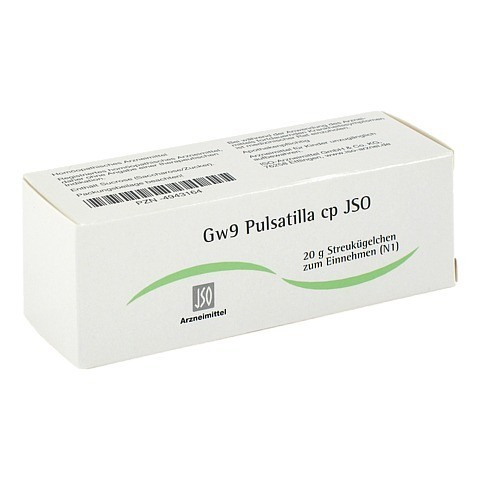 JSO Gw 9 Pulsatilla cp Globuli 20 Gramm N1
