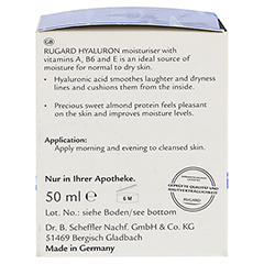 RUGARD Hyaluron Feuchtigkeitspflege 50 Milliliter - Linke Seite