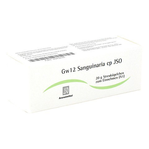 JSO Gw 12 Sanguinaria cp Globuli 20 Gramm N1