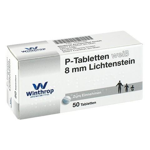 P TABLETTEN weiß 8 mm 50 Stück N2