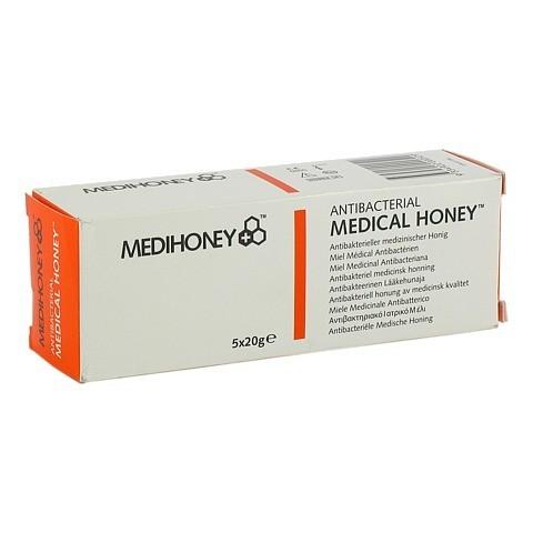 MEDIHONEY antibakterieller Medizinischer Honig 5x20 Gramm
