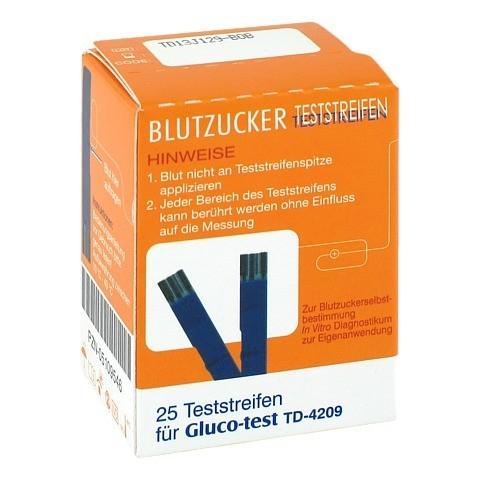 GLUCO TEST Blutzuckerteststreifen 25 Stück