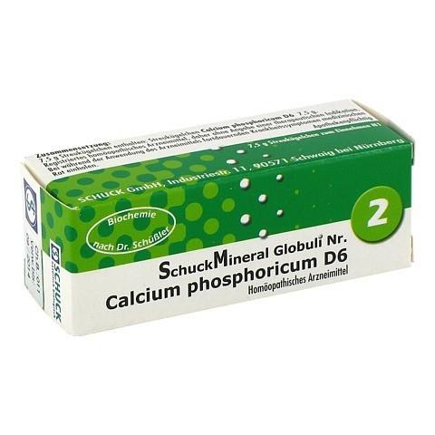 SCHUCKMINERAL Globuli 2 Calcium phosphoricum D 6 7.5 Gramm