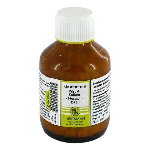 BIOCHEMIE 4 Kalium chloratum D 12 Tabletten 400 Stück