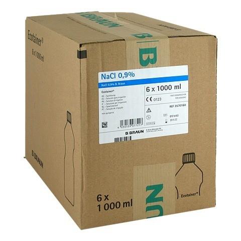 KOCHSALZLÖSUNG 0,9% B.Braun Spüllsg.Ecotainer 6x1000 Milliliter