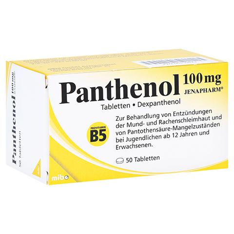 PANTHENOL 100 mg Jenapharm Tabletten 50 Stück N2