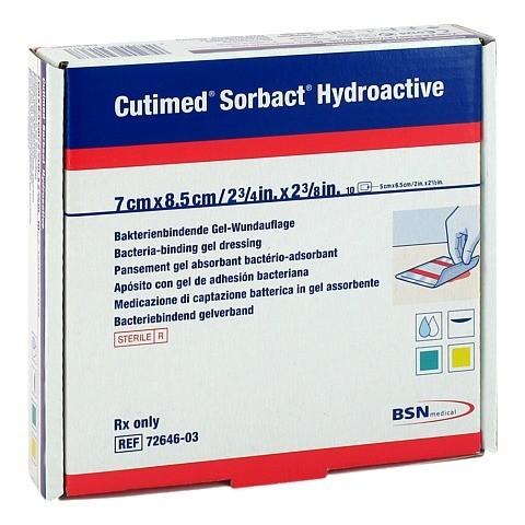 CUTIMED Sorbact Hydroactive Kompressen 7x8,5 cm 10 Stück