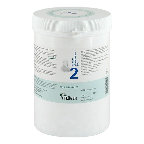 BIOCHEMIE Pflüger 2 Calcium phosphoricum D 6 Tabl. 4000 Stück