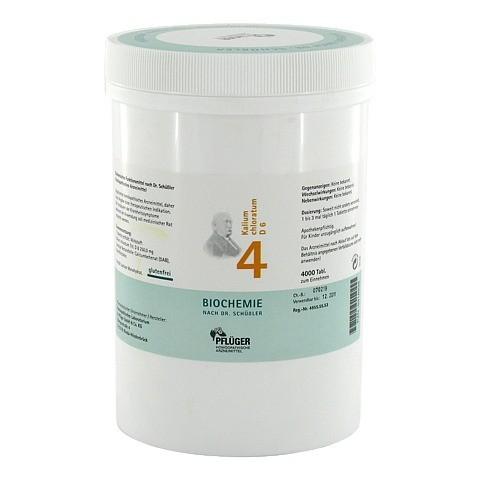 BIOCHEMIE Pflüger 4 Kalium chloratum D 6 Tabletten 4000 Stück