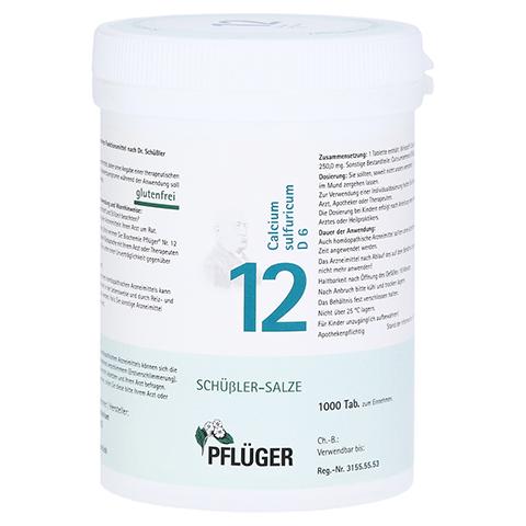 BIOCHEMIE Pflüger 12 Calcium sulfuricum D 6 Tabl. 1000 Stück
