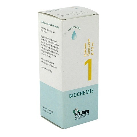 BIOCHEMIE Pflüger 1 Calcium fluoratum D 12 Tropfen 100 Milliliter N2