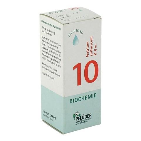 BIOCHEMIE Pflüger 10 Natrium sulfuricum D 6 Tropf. 30 Milliliter N1