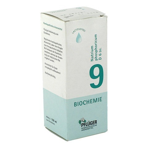 BIOCHEMIE Pflüger 9 Natrium phosphoricum D 6 Tro. 100 Milliliter N2