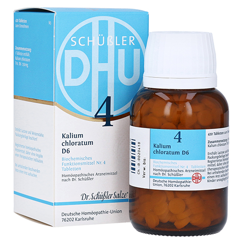BIOCHEMIE DHU 4 Kalium chloratum D 6 Tabletten 420 Stück N3