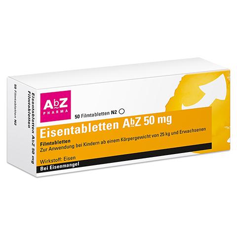 Eisentabletten AbZ 50mg 50 Stück N2