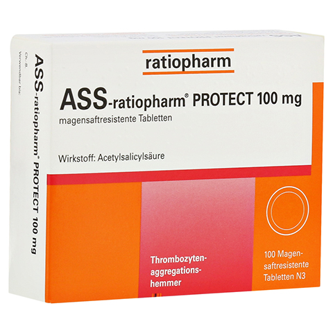 ASS-ratiopharm PROTECT 100mg 100 Stück N3