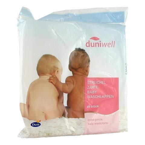 DUNIWELL Baby Waschlappen streichelzart 40 Stück