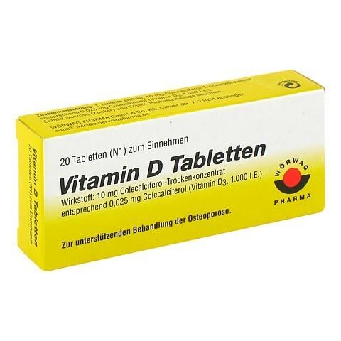vitamin d tabletten 20 st ck n1 online bestellen medpex. Black Bedroom Furniture Sets. Home Design Ideas