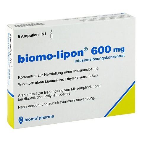 BIOMO-lipon 600 mg Ampullen 5 Stück N1