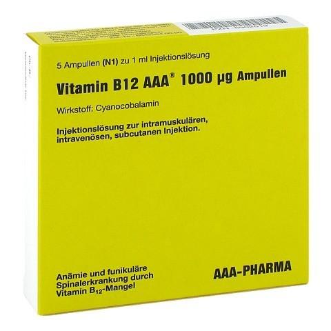 Vitamin B12 AAA 1.000 µg Ampullen 5x1 Milliliter N1