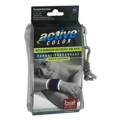 BORT ActiveColor Handgelenkbandage M blau 1 Stück