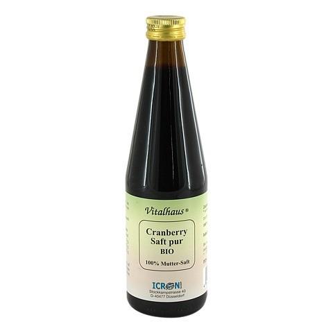 CRANBERRY SAFT pur Bio Vitalhaus 330 Milliliter
