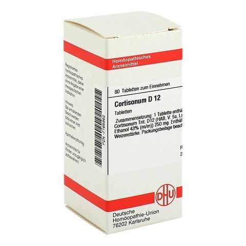 CORTISONUM D 12 Tabletten 80 Stück N1