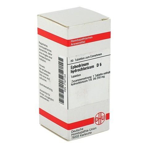 EPHEDRINUM hydrochloricum D 6 Tabletten 80 Stück