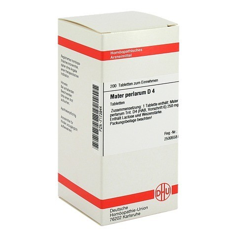 MATER PERLARUM D 4 Tabletten 200 Stück N2