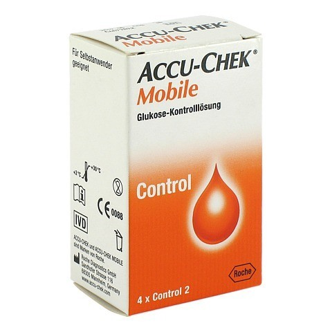 ACCU-CHEK Mobile Kontrolllösung 4 Einmalapplikat. 1x4 Stück