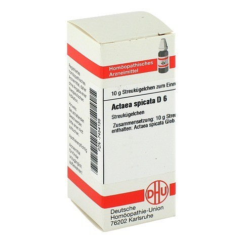 ACTAEA SPICATA D 6 Globuli 10 Gramm N1