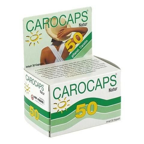 CAROCAPS 50 Natur Kapseln 30 Stück