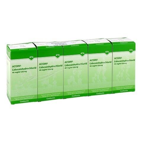 ACOIN-Lidocainhydrochlorid 40 mg/ml Lösung 5x50 Milliliter N2