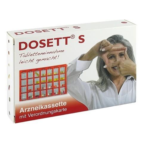 DOSETT S Arzneikassette rot 1 Stück