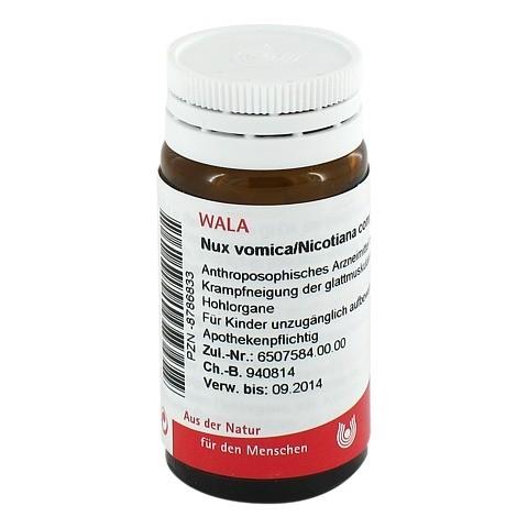 NUX VOMICA/NICOTIANA comp.Globuli 20 Gramm N1