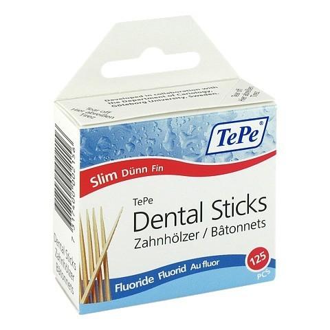 Tepe Zahnhölzer dünn m.Fluorid 125 Stück