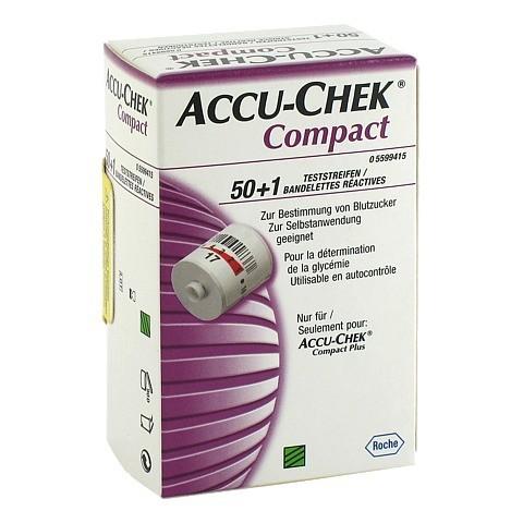 ACCU CHEK Compact Teststreifen 51 Stück