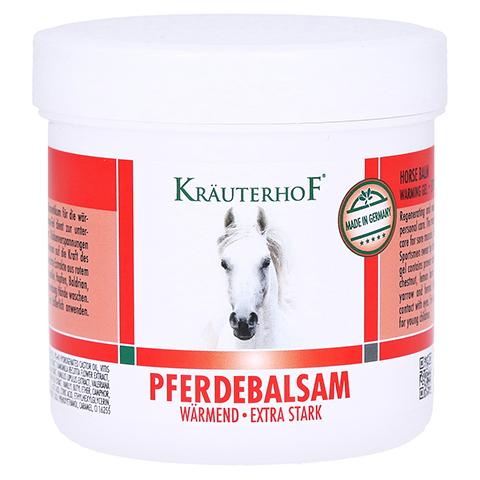 PFERDEBALSAM wärmend Kräuterhof 250 Milliliter