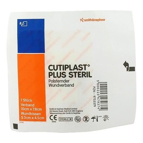 CUTIPLAST Plus steril 7,8x10 cm Verband 1 Stück