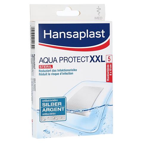HANSAPLAST med Aqua Protect XXL Pflaster 8x10 cm 5 Stück