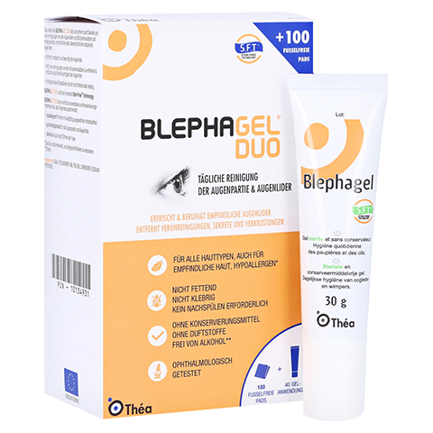 BLEPHAGEL Duo 30 g+Pads 1 Packung