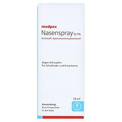 medpex Nasenspray 0,1% 10 Milliliter N1 - Vorderseite