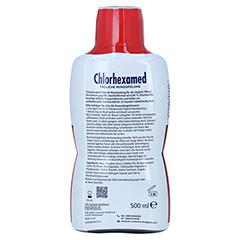 CHLORHEXAMED tägliche Mundspülung 0,06% 500 Milliliter - Rückseite