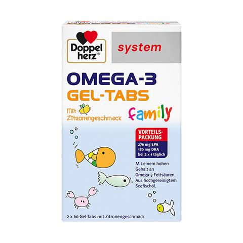 DOPPELHERZ Omega-3 Gel-Tabs family system 120 Stück
