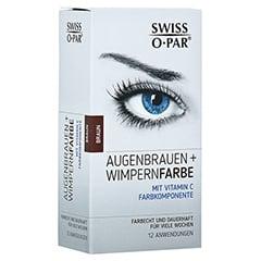 AUGENBRAUEN+WIMPERNFARBE Set braun Swiss O-Par 1 Packung