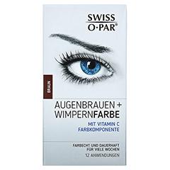 AUGENBRAUEN+WIMPERNFARBE Set braun Swiss O-Par 1 Packung - Vorderseite