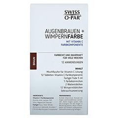 AUGENBRAUEN+WIMPERNFARBE Set braun Swiss O-Par 1 Packung - Rückseite