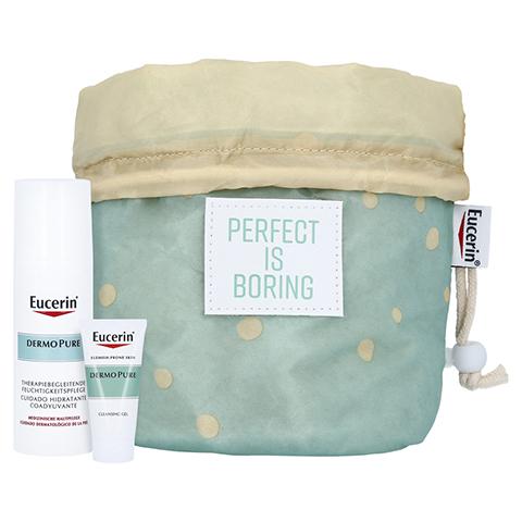 EUCERIN DermoPure therapiebegl.Feuchtigkeitspflege + gratis Kosmetikbeutel inkl. DermoPure Renigungsgel 20ml 50 Milliliter